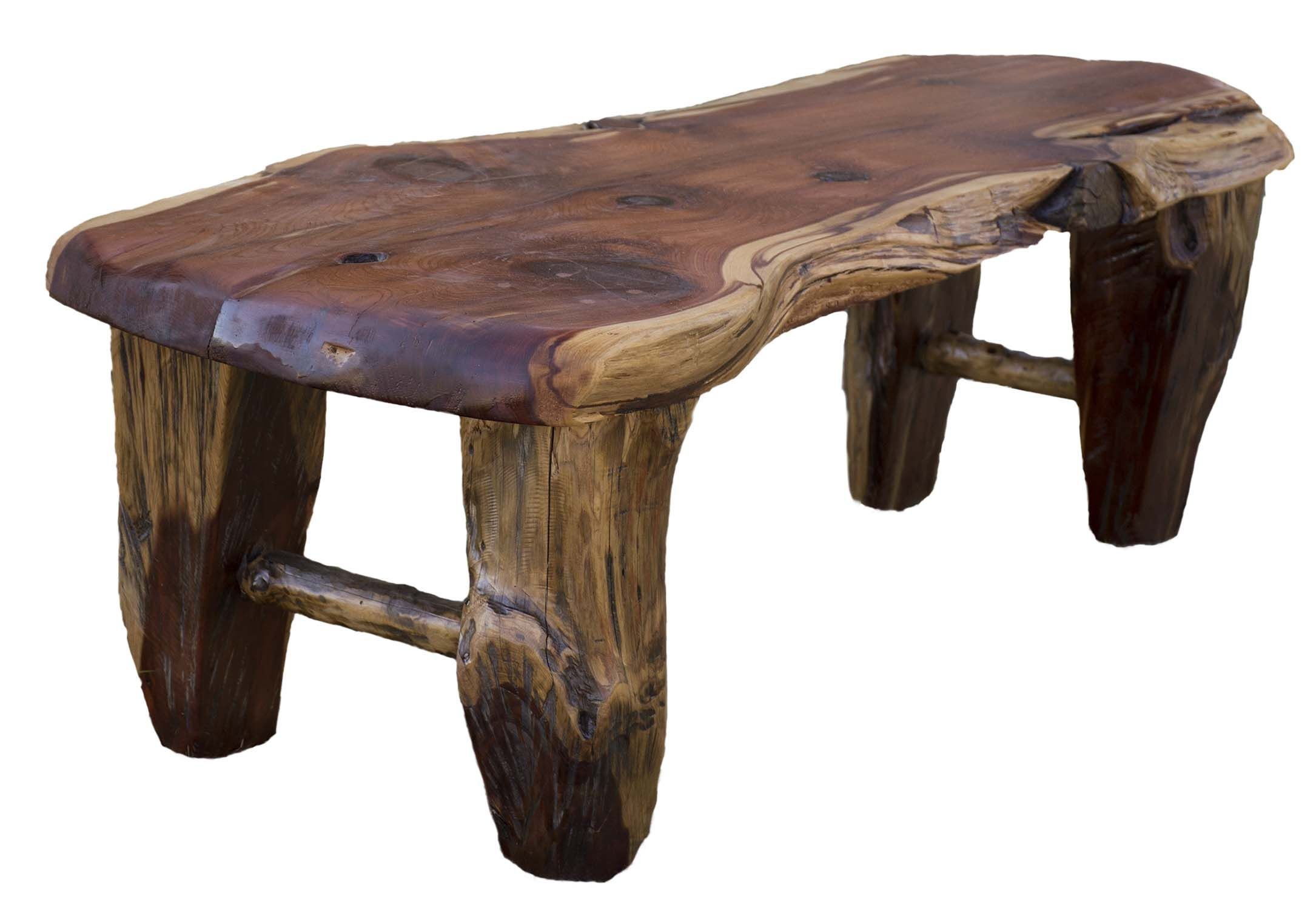 Custom Made Rustic Red Cedar Coffee Table