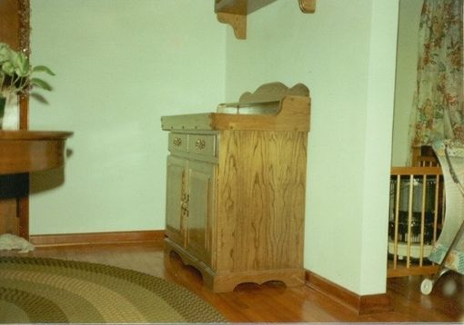 Custom Made Oak Dry Sink
