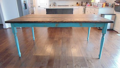 Hand Crafted Modern Chunky Farmhouse Table By Wonderland