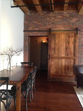 Mid Century Room Divider >> Hand Crafted Reclaimed Wood Barn Door / Room Divider by ...