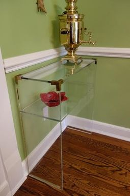 Custom Made Brass Accent Console Table