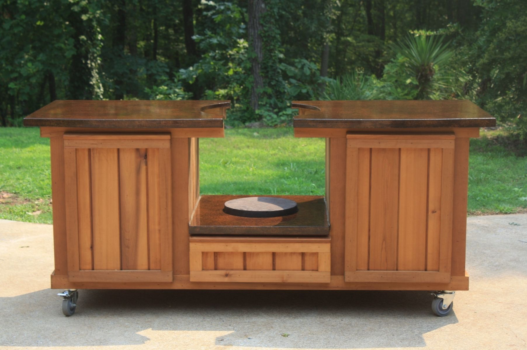 Custom Made Tennessee Collection Big Green Egg Table. Hand Made Tennessee Collection Big Green Egg Table by Big Green