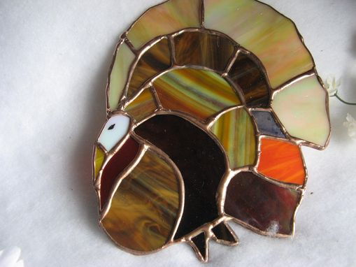 Custom Made Stained Glass Turkey Light Catcher