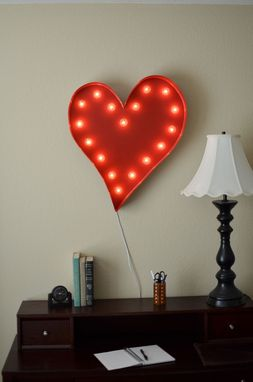 Custom Made Vintage Inspired Marquee Light- Heart