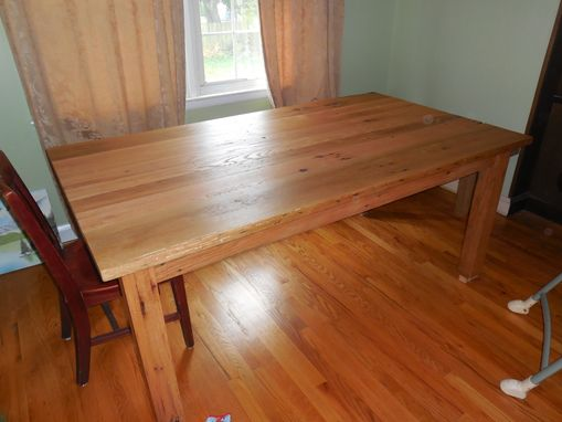 Custom Made Reclaimed Oak Dining Table