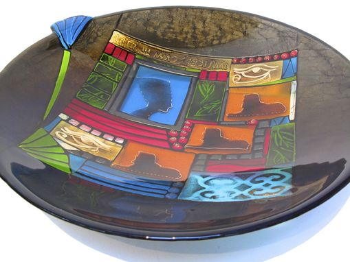 Custom Made Egyptian Inspired Glass Bowl