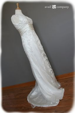 Custom Made Column Wedding Dress With Vintage Style