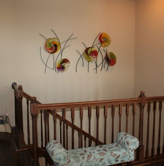 Custom Made Blown Glass And Metal Wall Art By Bonnie M