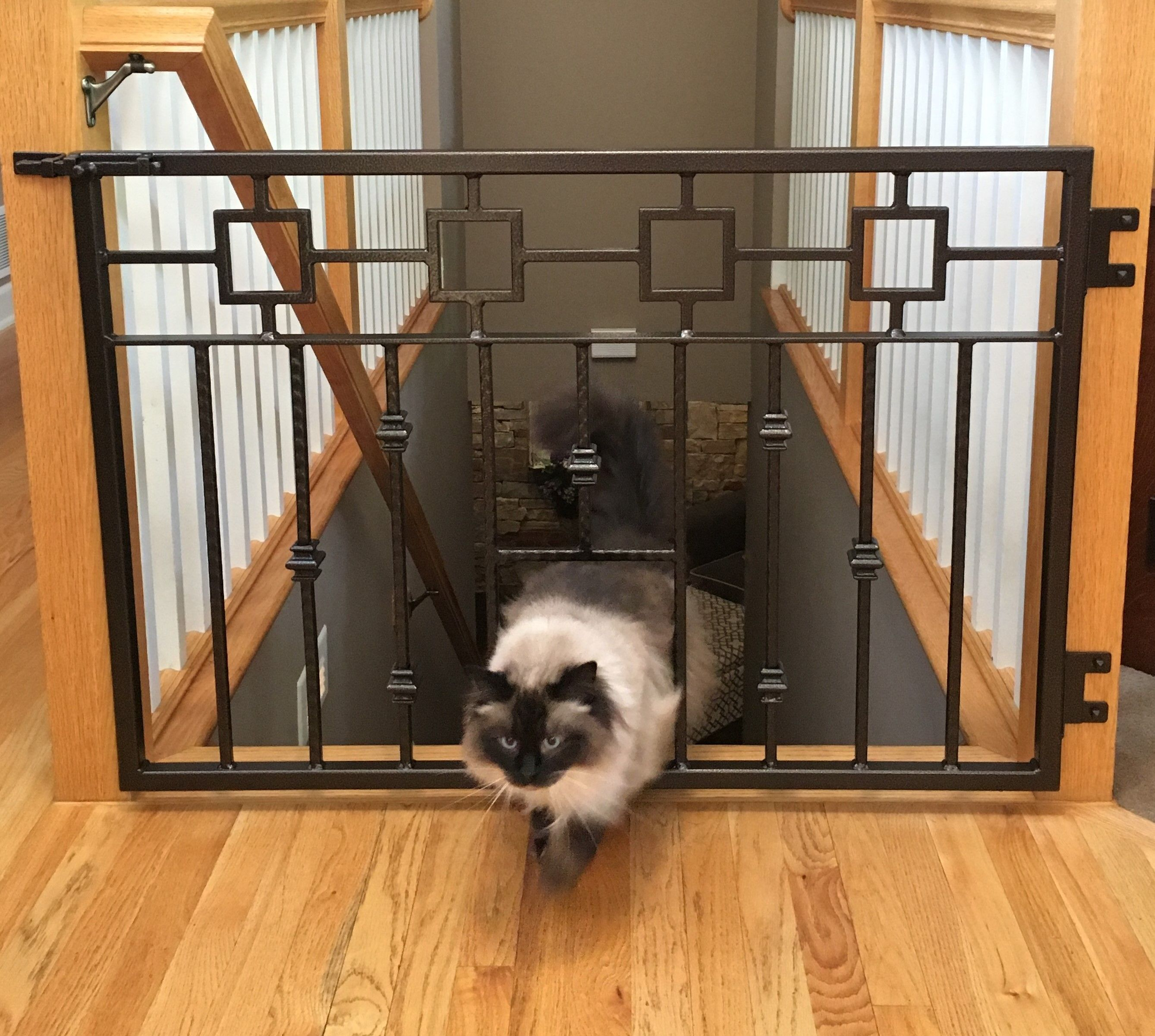 Hand Crafted Pet Gate Dog Cat Gate Stairway Gate Wrought Iron