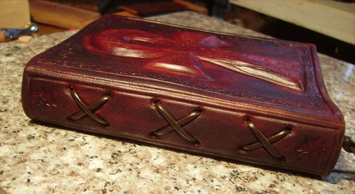 Custom Made Handcrafted Leather Journal With Embossed Ankh