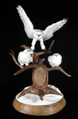 Custom Made Snowy Owl Sculpture