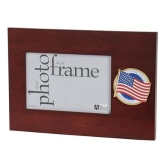 Custom Made American Flag Medallion 4 By 6 Desktop Picture Frame