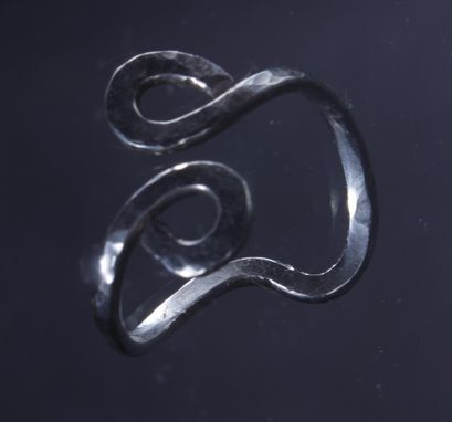 Custom Made Sterling Silver Curled Ring