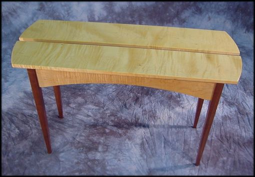 Custom Made Curly Maple Split-Top Credenza Table