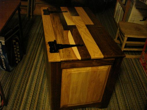 Custom Made Cherry And Walnut Hope Chest
