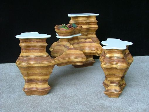 Custom Made 3 Islands Occasional Table