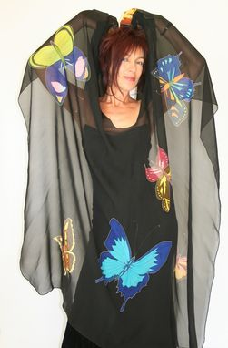 Custom Made Hand Painted Silk Cape