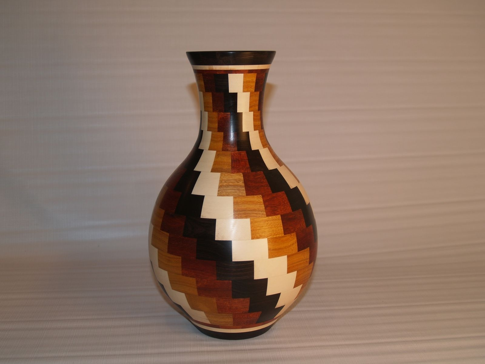 Custom Segmented Twisted Vase By Silks Wood Designs