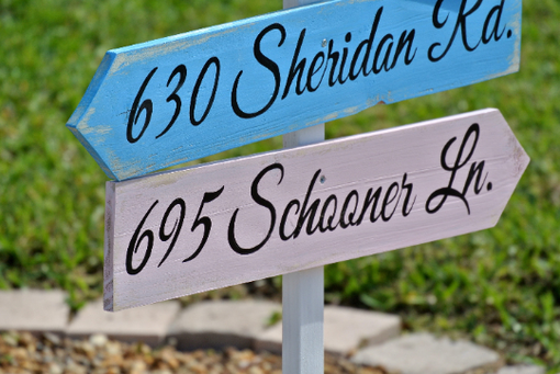 Custom Made Wedding Beach Wooden Sign, Nautical Wood Arrow Directional Signage