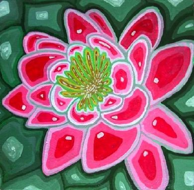 Custom Made Water Lily Painting