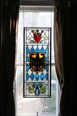 Custom Made Stained Glass Hanging Panel - Residential
