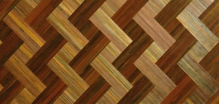 Hand Crafted Straw Marquetry Basket Weave Copper Green