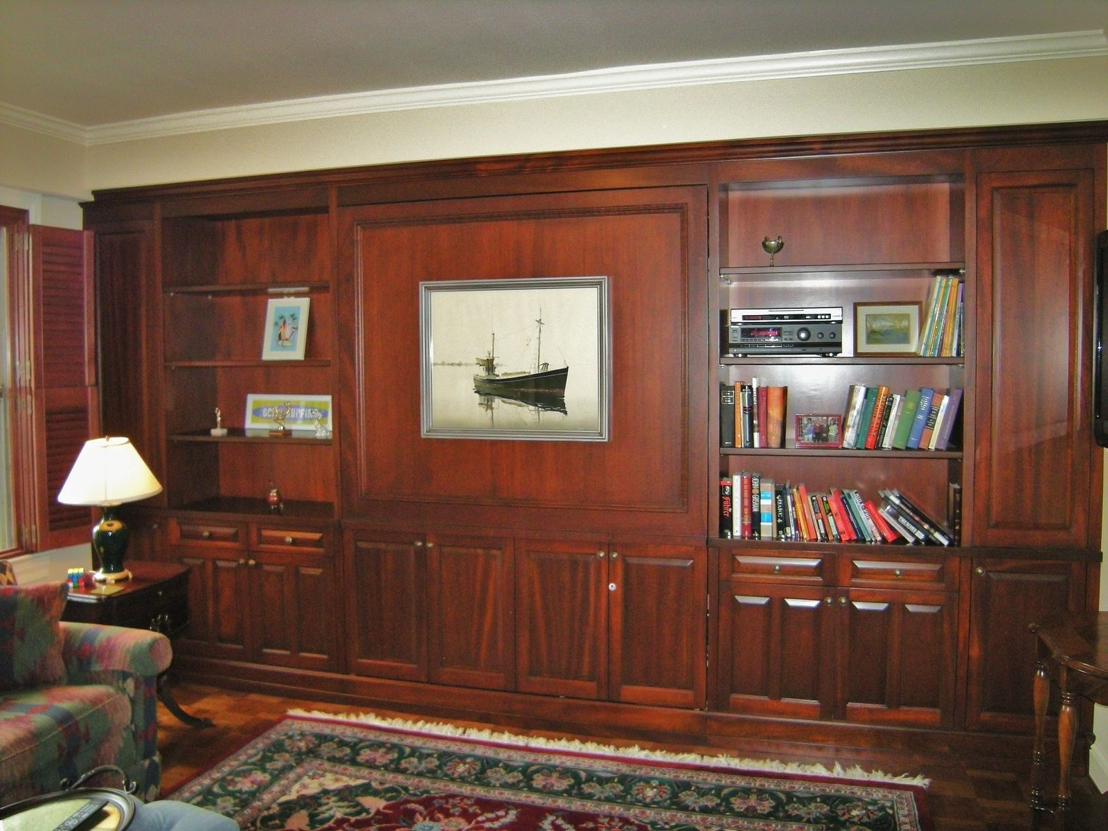 Custom Built In Murphy Bed And Shelving By Bayne S Quality
