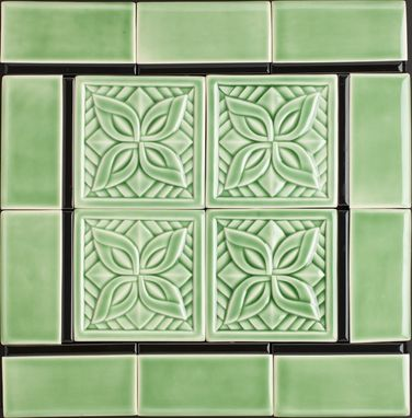 Custom Made Celadon Green Deco Tile Sample