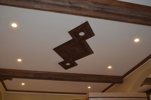 Custom Made Rustic Beams And Ceiling Diamonds