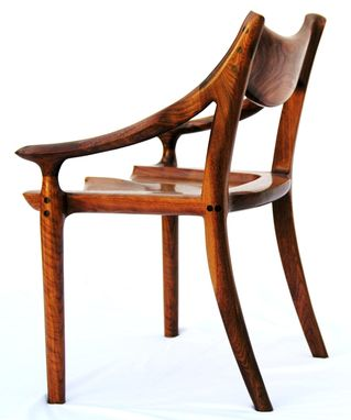 Custom Made Walnut Side Chair