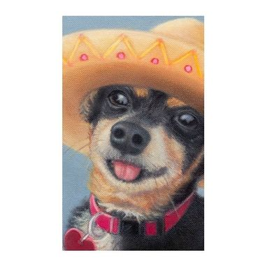 Custom Made Chihuahua - Min Pin Dog Art Print W/ Mat 11 X 14 - Shelter Dog Art - Cinco De Mayo