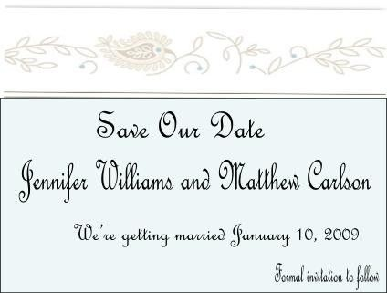Custom Made Weddings Invitation Card Save The Date Hand Crafted