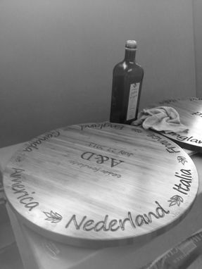 Custom Made Custom Cutting/Serving Lazy Susan Board