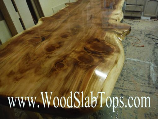 Custom Made Live Edge Slab Wood Table