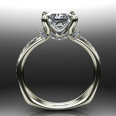 Custom Made Princess Diamond Solitaire Engagement Ring