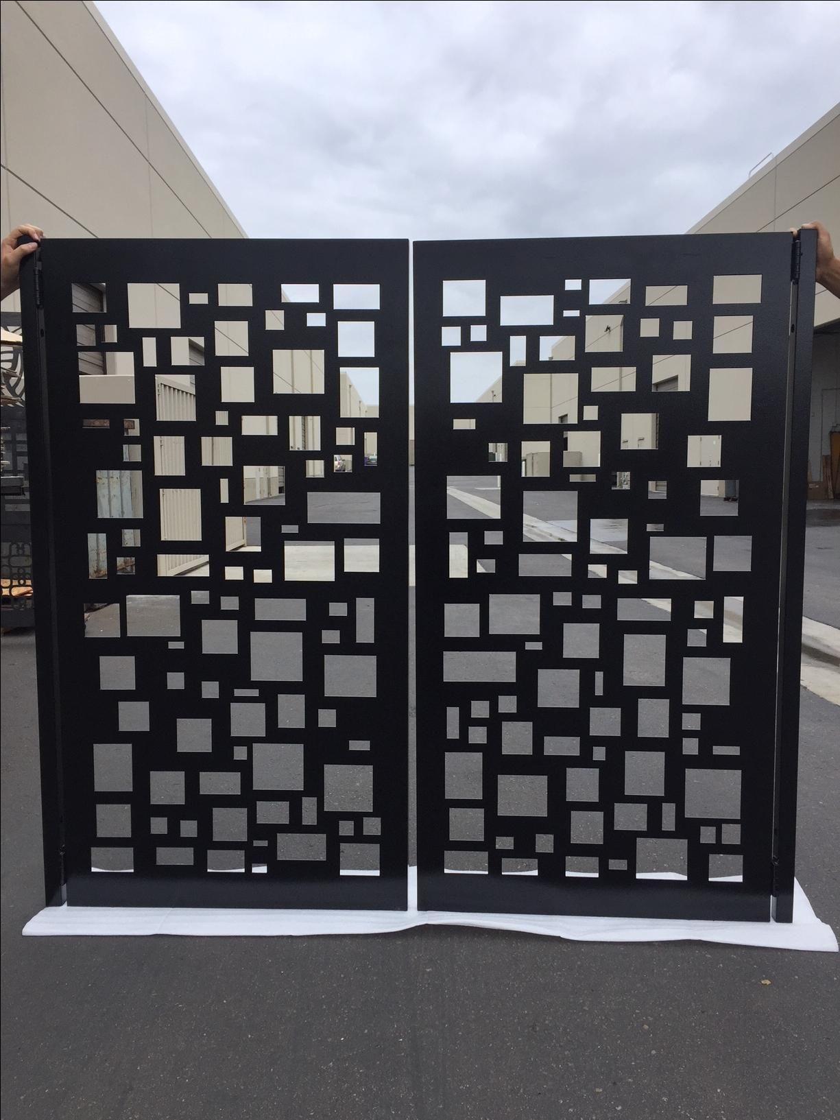 Buy A Hand Made Modern Metal Gate Dual Entry Steel Garden