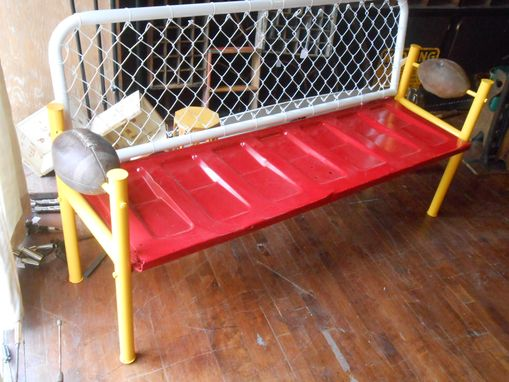 Custom Made Football Tailgating Chiefs Bench Tail Gate Theme Go Kansas City Real Foot Balls