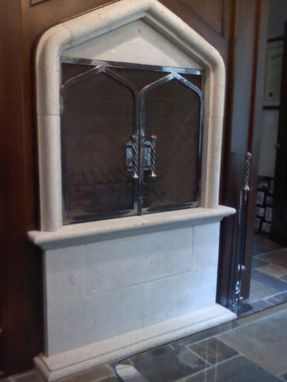 Custom Made Fire Screen, Tool And Tool Holder