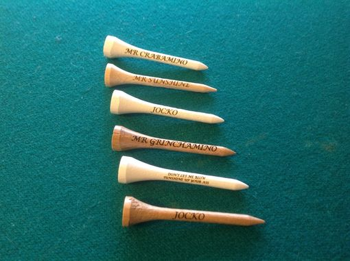 Custom Made Personalized Golf Tees