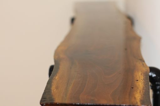Custom Made Black Walnut Live Edge Shelf