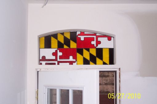 Custom Made Maryland Flag Transom - Small (Tw-20)