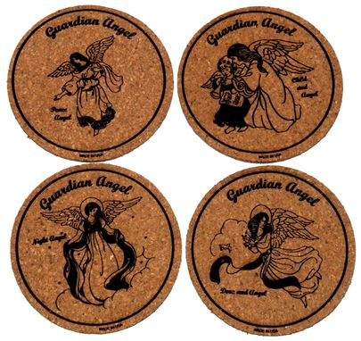 Custom Made Custom Laser Engraved Cork Coasters