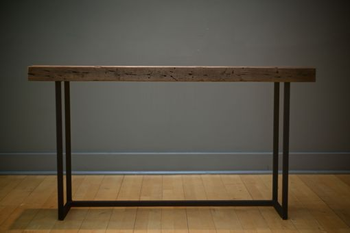 Custom Made Industrial Wood And Steel Console Table