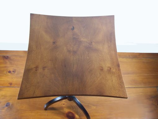 Custom Made Square Book Matched Maple Accent Table No.102 With 3 Legs