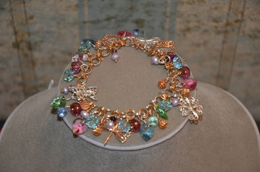 Custom Made Sterling Silver & Rose Gold Charm Bracelet
