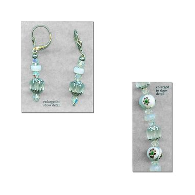 Custom Made Millifiori Bridal Necklace & Earrings Set