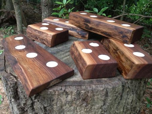 Custom Made Appalachian Black Walnut Candle Holders