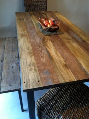 Custom Made Dining Room Table With Metal Frame