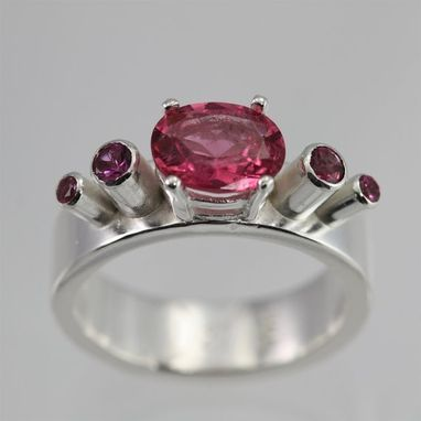 Custom Made 5 Stone Oval Crown Ring (Pink Tourmaline)