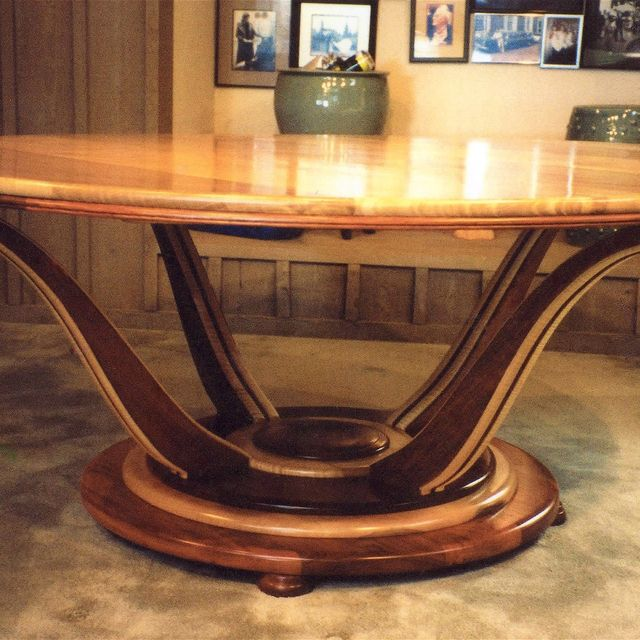 Hand Crafted Art Deco Dining Table By Louis Fry Craftsman In Wood Custommade